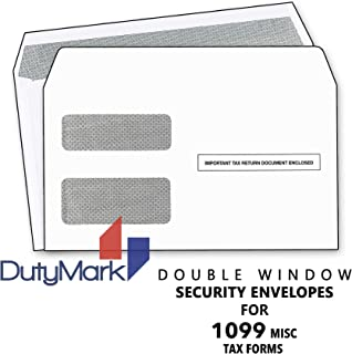 Tax Envelops - Double-Window Security Envelope for 1099 Miscellaneous Income Tax Form, 1099 Envelopes, 2019