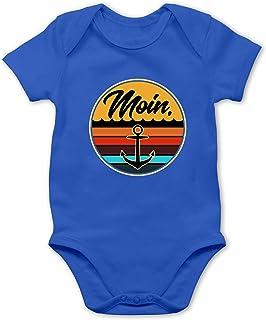 Shirtracer Up to Date Baby - Moin Retro Badge - Baby Body Kurzarm für Jungen und Mädchen