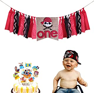 pirate first birthday cake