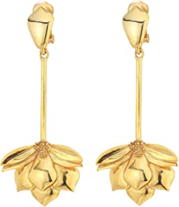 Oscar de la Renta - Wild Lotus Drop C Earrings