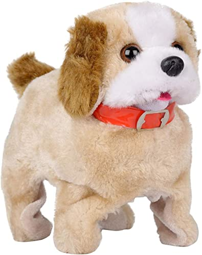 JOYKART Fantastic Jumping Walking Barking Back Flip Puppy Jumping Musical Dog for Kids (Brown)