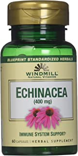 Windmill Echinacea 400mg Capsules, 60 Count (Pack of 1)