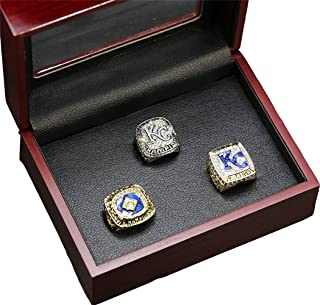 Royals 1985 2014 2015 3 Years Championship Rings Set, Baseball Championship Ring for Fans Men's Gift Size 8-14