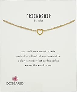 Dogeared - Friendship Bracelet, Small Open Heart Chain Bracelet