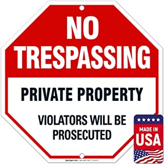Best metal private property signs Reviews