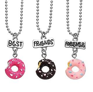 3 Packs Best Friends Forever Kids Children Resin Pendant Necklace