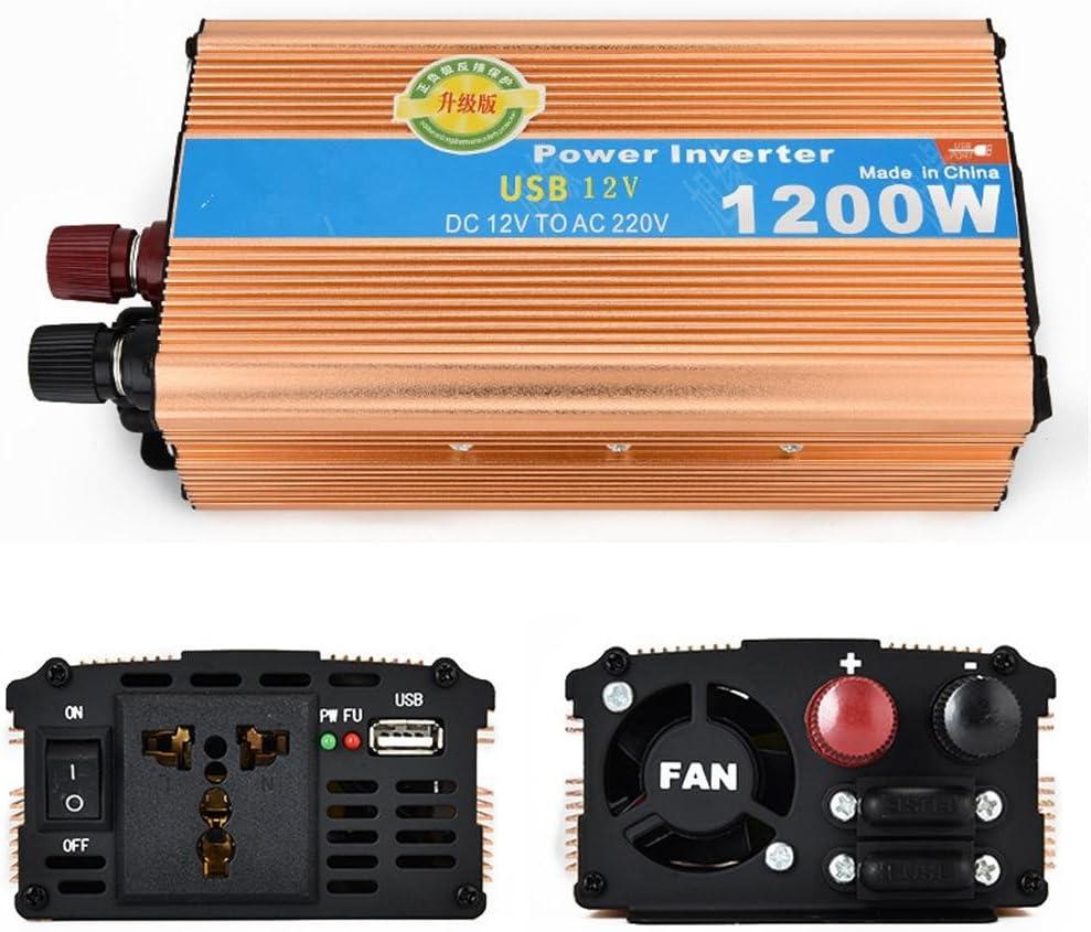 Inversor BQ 1200W de la energía Coche del USB 12V a la Correa 220V Adaptador Dual del alumbrador del Cigarrillo del Transformador