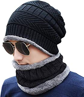 VT VIRTUE TRADERS Ultra Soft Unisex Woolen Beanie Cap Plus Muffler Scarf Set for Men Women Girl Boy - Warm, Snow Proof - 2...