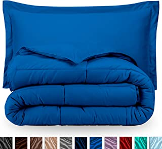 Bare Home Comforter Set - Twin/Twin Extra Long - Goose Down Alternative - Ultra-Soft - Premium 1800 Series - Hypoallergenic - All Season Breathable Warmth (Twin/Twin XL, Medium Blue)