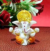 "Sawcart 2.5"" Lord Ganesha/Ganpati Small Statue Decorative Religious Puja Idol Figurine Sculpture Hindu God of Success, Pro..."