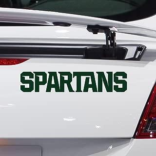 Nudge Printing Michigan State University Spartans Vinyl Car Decal Window Sticker