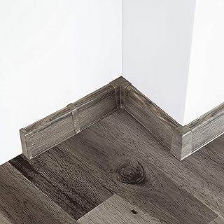 2 Meter Sockelleiste 75mm PVC Eiche Canyon Laminatleisten Fussleisten aus Kunststoff PVC Laminat Dekore Fu/ßleisten DQ-PP