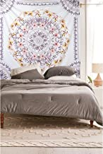 """Simpkeely Mandala Tapestry Wall Hanging, Indian Bohemian Medallion Wall Tapestries Sketched Floral Art, Wall Décor for Dorm Beding Room Living Room 59"""" x 80""""-Mauve"""