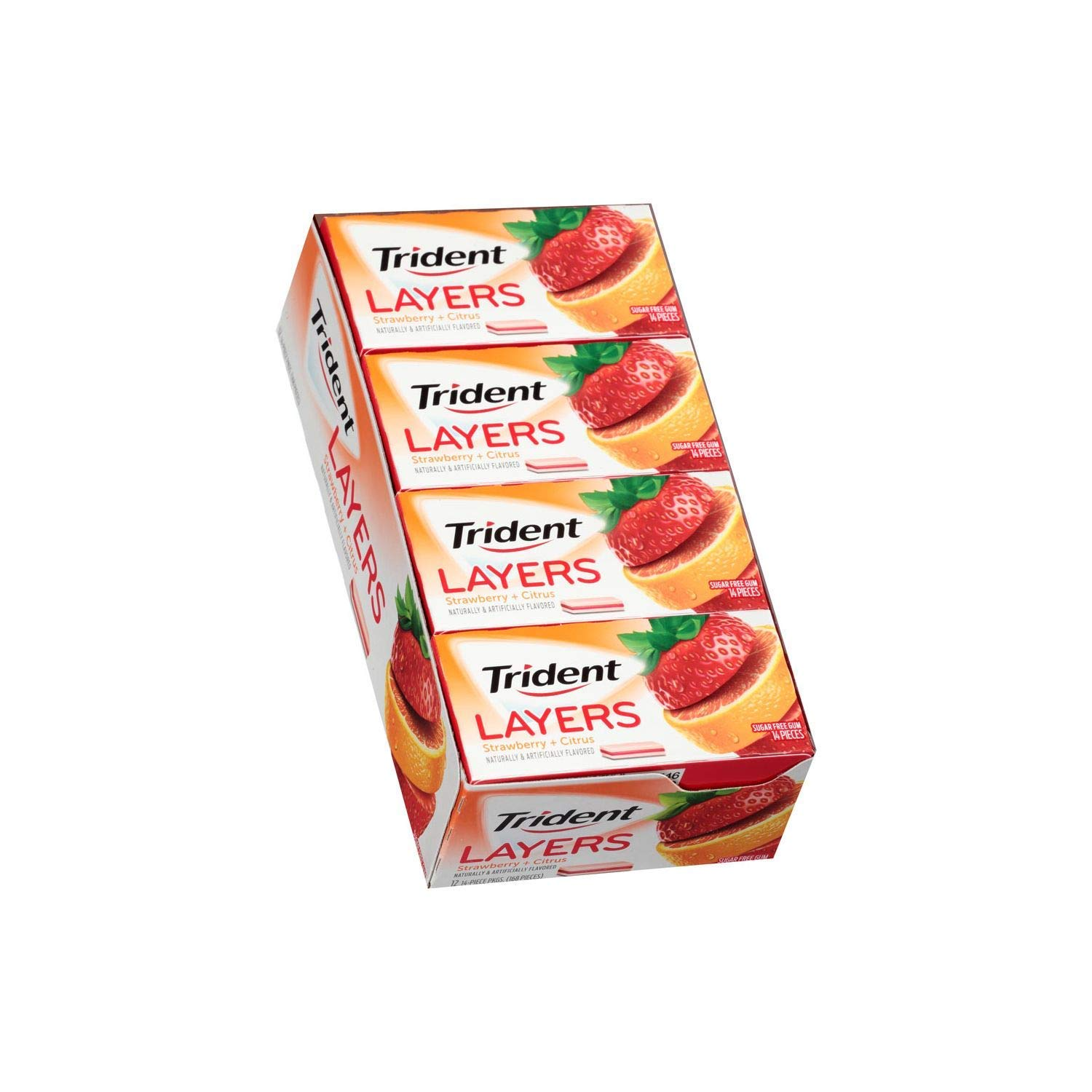 Trident Layers Strawberry Regular discount and Tangy Citrus 10 14 ct packs. - Manufacturer regenerated product