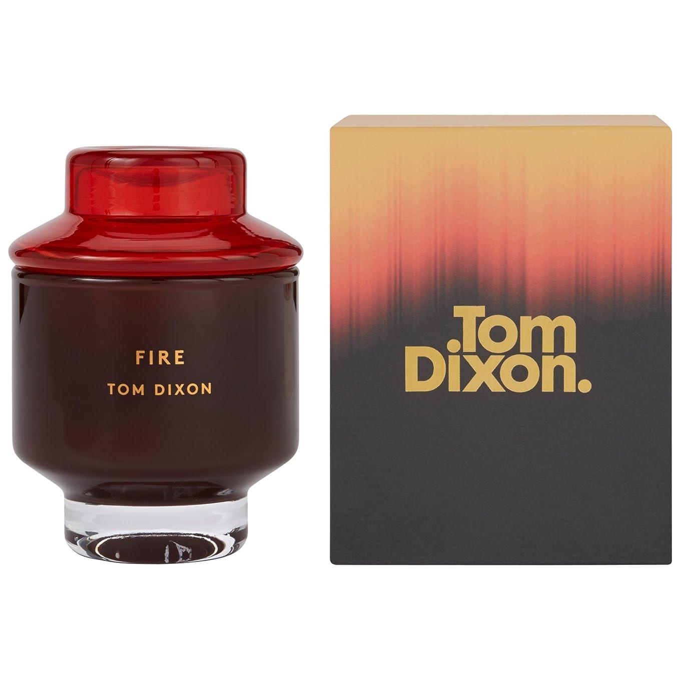 奴隷ソーダ水バーマドTom Dixon Fire Scented Candle Medium (Pack of 2) - トム?ディクソン火災香りのキャンドル媒体 x2 [並行輸入品]
