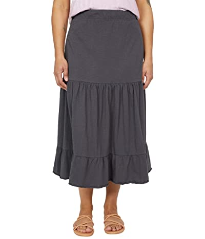 Toad&Co Primo Tiered Midi Skirt (Soot) Women
