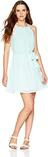 A. Byer Women's Juniors Scalloped Edge Chiffon Dress