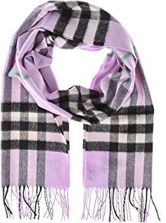 Burberry Classic Vintage Check Cashmere Scarf- Pale Heather