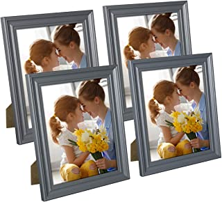 Hap Tim 8x10 Picture Frame Gray Wooden Photo Frames for Tabletop Display and Wall Decoration, Set of 4 (CWH-8x10-BG)