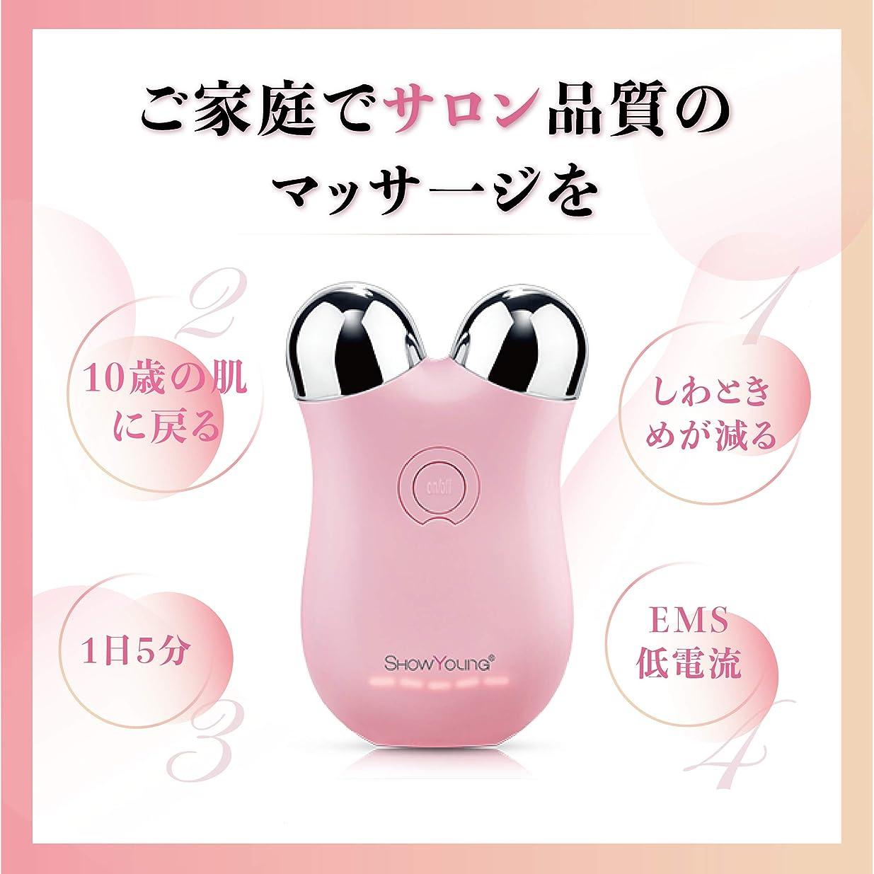 広げる暴君獣Showyoung 微小電流ミニ顔マッサージ器、顔の調色装置、しわと細紋の減少、皮膚、リンパのマッサージ、調整の質、2年の品質の保証に用いる。