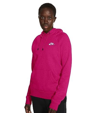 Nike NSW Essential Hoodie Pullover Fleece (Fireberry/Heather/White) Women