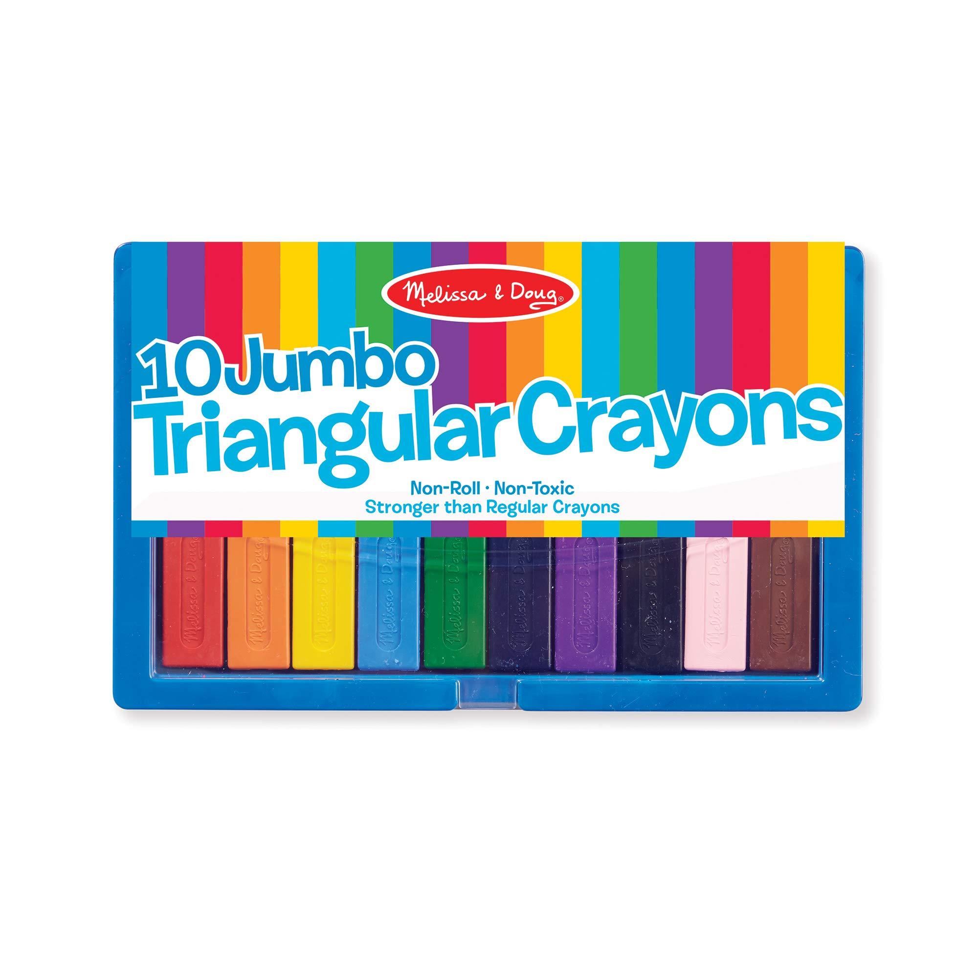 Melissa Doug Jumbo Triangular Crayons