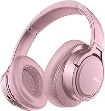 Mpow H7 Cascos Bluetooth Inalámbrico, Auriculares Bluetooth de Diadema, 18hrs de Duración de la Batería, Auriculares Inalámbricos Cerrados con Micrófono, Audífono para Moviles, TV, PC, Rosa