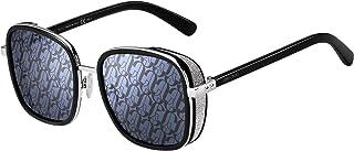 Jimmy Choo ELVA/S Black Silver/Grey Blue 54/20/130 women Sunglasses