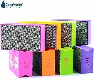 Grit 60# Diamond Hand Polishing Pad 9055mm Stone Polishing Hand Wiper Glass Polish Grinding Ceramic Tile Diamond Abrasive Pads (XEHPP60)