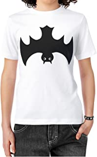 60c62dc0 Eoyles Bat Black Womens Comfortable Cotton Round Neck White Tee Shirt