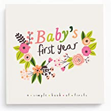 Lucy Darling Baby's First Year Memory Book: A Simple Book of Firsts - Little Artist Baby Journal - Baby Album