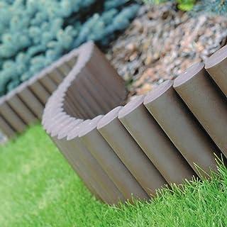 comprar comparacion Prosperplast Palisade borde de borde de césped de 2,7 m, bordillo de piedra, marrón, 31 x 28 x 26,6 cm, IPAL5-R222