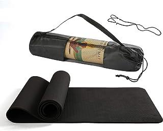 BHANU Yoga Mat Non-Slip Durable Exercise Mat Yoga Exercise Mat with Yoga Bag and Rope Super Long Yoga Mat Pilates Free Exe...