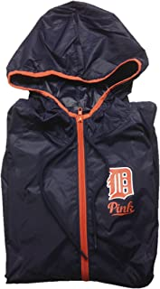 Pink Detroit Tigers Anorak Half Zip Hoodie Medium/Large Navy