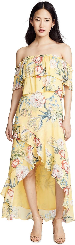 BB Dakota by Steve Madden Women's Madison Off The Shoulder Print Ruffle Dress