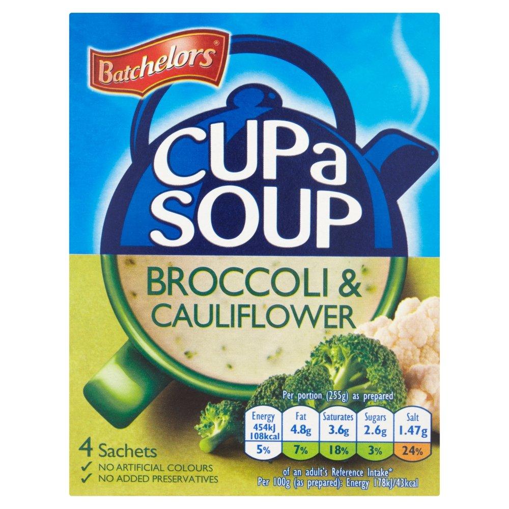 Batchelors Cup a Soup Max 76% OFF Creamy Cauliflower 4 Under blast sales Broccoli pack per