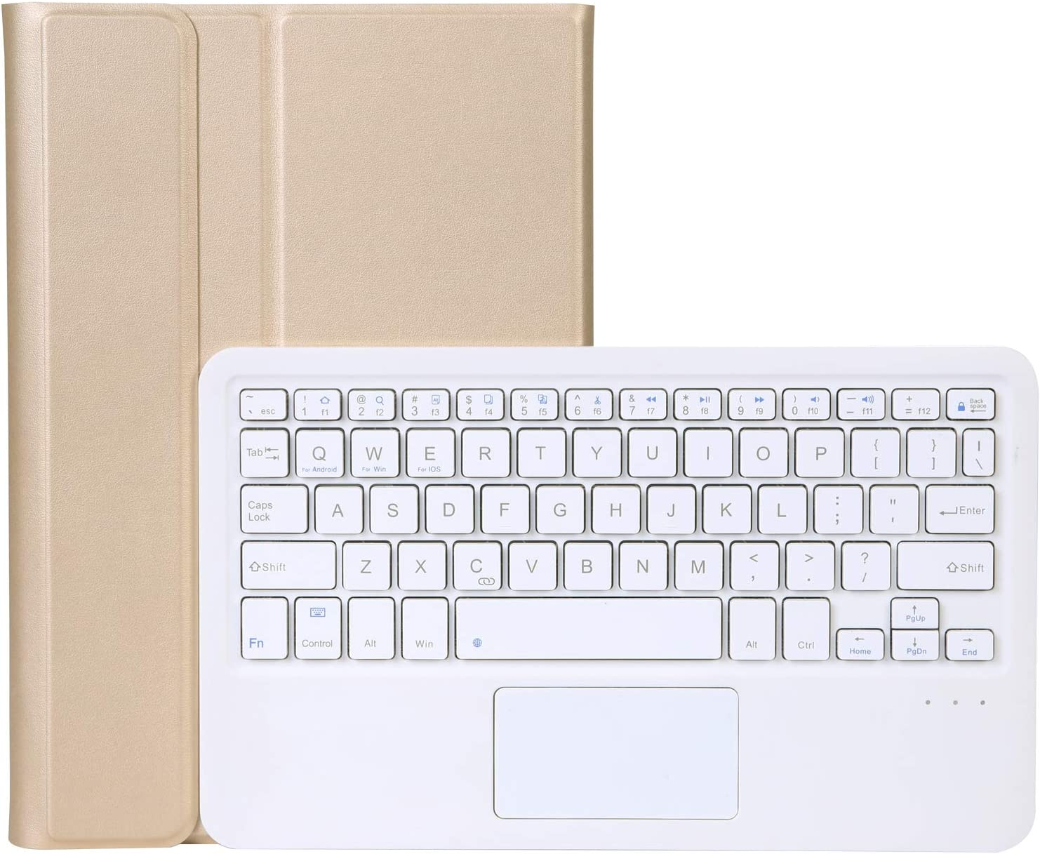 NB Wireless Bluetooth Keyboard Cover for Samsung Galaxy Tab S6 Lite 10.4 [Model: SM-P610/SM-P615], Fine Synthetic Leather Protective Cover, Removable Keyboard & Touch Mouse
