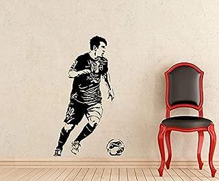 Lionel Messi Wall Vinyl Decal Gym Sport Soccer Football FC Barcelona Boy Sticker Poster Home Teen Kids Nursery Mural Art Decor G298
