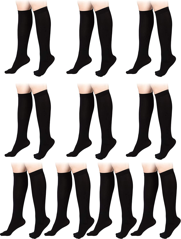 10 Pairs Women Opaque Knee Sock Nylon Trouser High Sock Fashion Dress Sock