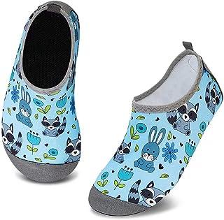 Mabove Enfants Chaussures Aquatiques Garçons Filles Antidérapant Sèche Vite Chaussures d'eau Bébé pour Piscine et Plage