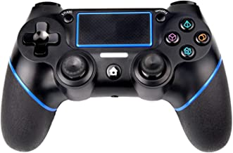 $33 » TJSDAN PS4 Controller Wireless Bluetooth Game Controller Dualshock Gamepad for Playstation 4 Touch Panel Gamepad with Dual Vibration, Instant Sharing of joysticks
