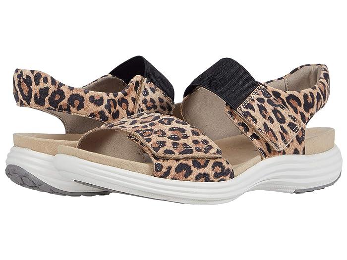 Aravon  Beaumont Two Strap (Leopard) Womens Sandals