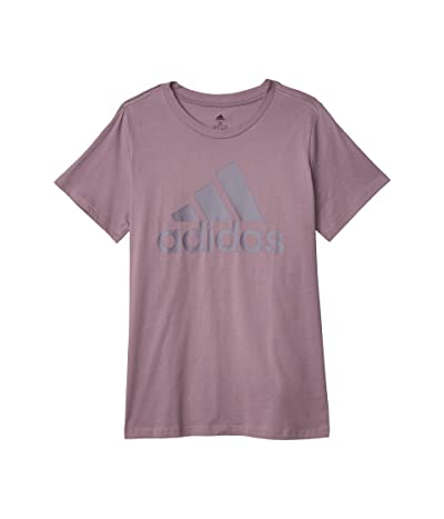 adidas Plus Size Badge Of Sport Cotton Inclusive Tee (Legacy Purple) Women