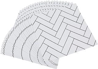 ENCOFT 24 stks Tegel Stickers Wit 6x6 Inches voor Badkamer Keuken Waterdichte Verwijderbare Muurstickers Art Decor 15x15 CM