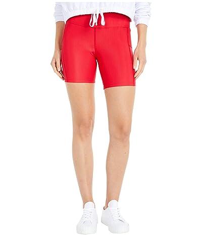 Beach Riot Toni Bike Shorts (Red) Women