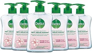 Dettol Handzeep - Jasmijn - Jasmijn geur verrijkt met 100% natuurlijke oliën - 6 x 250 ml Grootverpakking