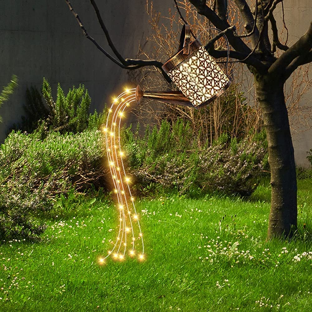 Solar Powered Watering Can LED Gardren Light Decoration 20