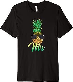 Hawaii Pineapple Aloha Newlywed Couple Matching Husband Mr Premium T-Shirt