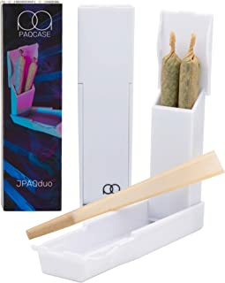 JPAQduo - The #1 Ultra-Sleek Joint Holder, Crush-Proof Doob Tube, and Cigarette Case, Holds 2 King Size Prerolls, Portable...