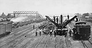 Pullman Strike 1894 Na Wrecking-Crew Clearing A Chicago Railway Yard Of Burned Freight Cars Photograph American 1894 Poste...